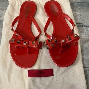Valentino studded flip flops
